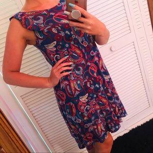 LOFT paisley dress XS
